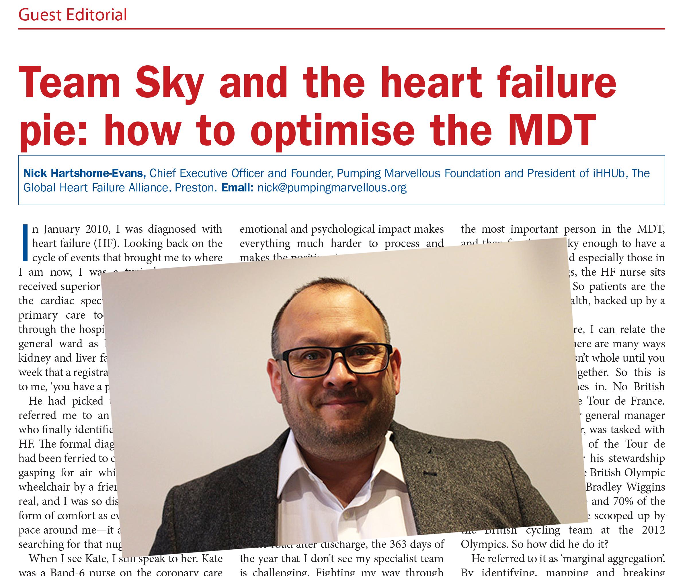 Nick-Hartshorne-Evans heart failure pie British Journal Cardiac Nursing Guest Editorial