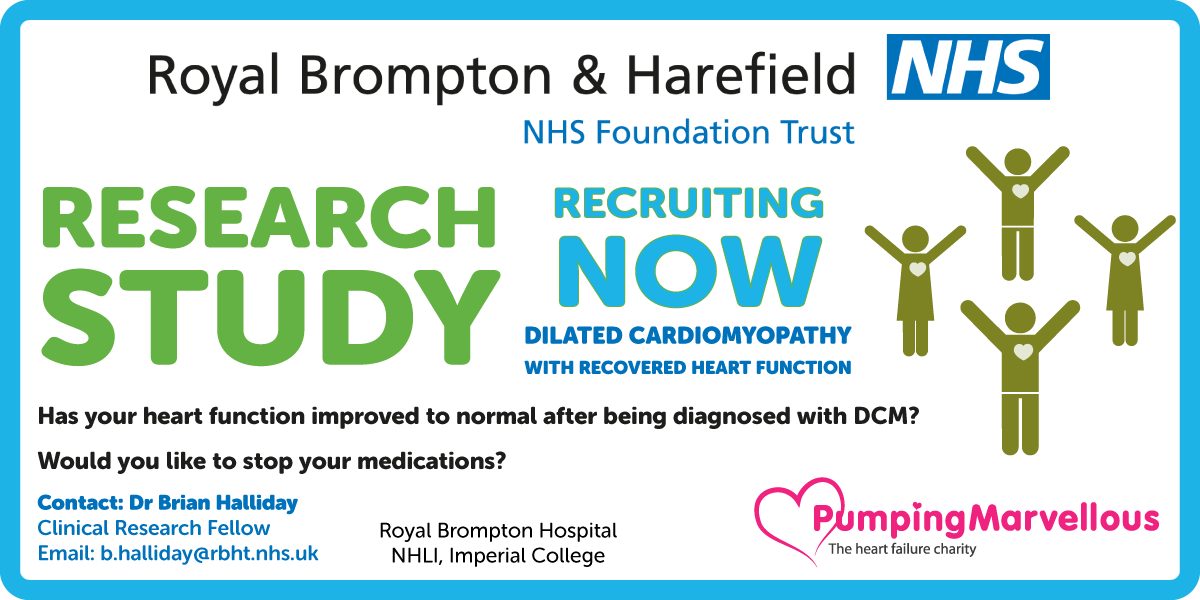 New dilated cardiomyopathy study participation at The Royal Brompton Hospital