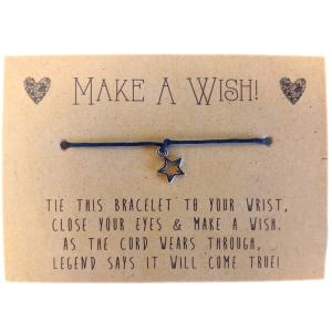 Wish-Bracelets---Star-Charm---Red
